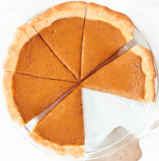 Whole Pumpkin Pie Slices