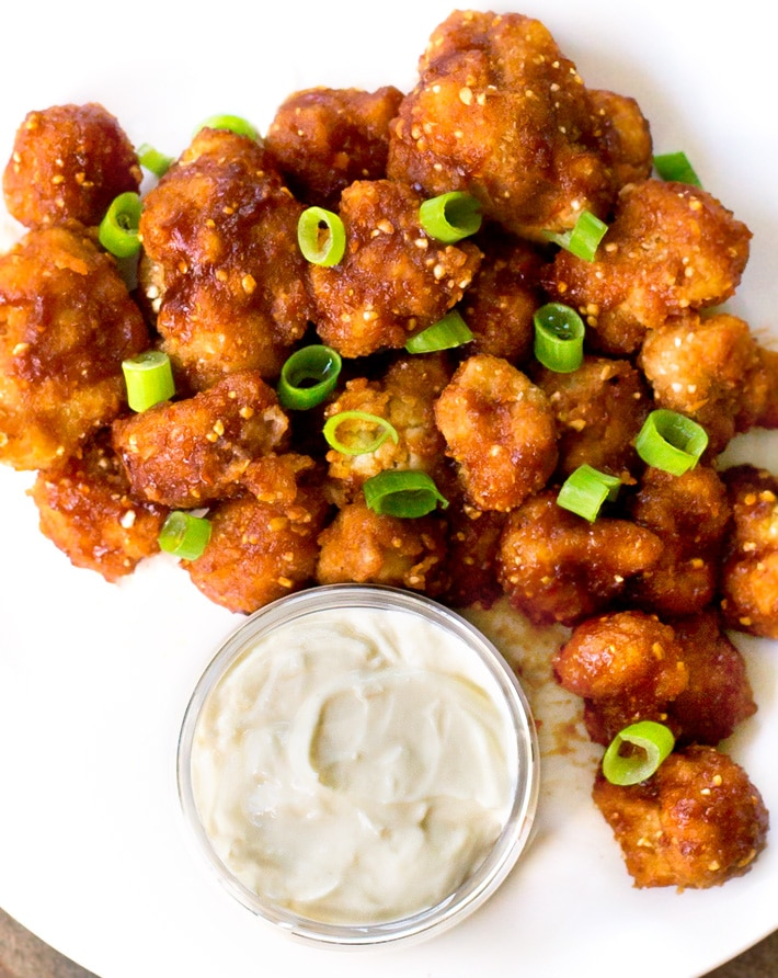 Healthy Barbecue Cauliflower Wings