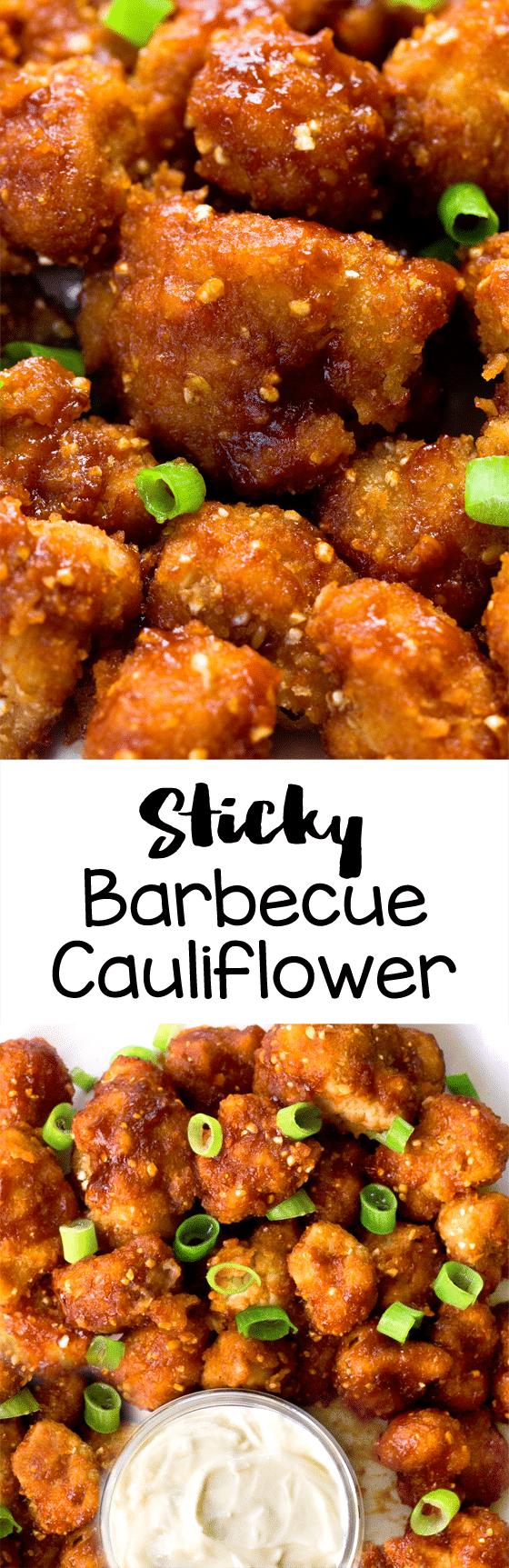 Sticky Barbecue Cauliflower Dinner Recipe