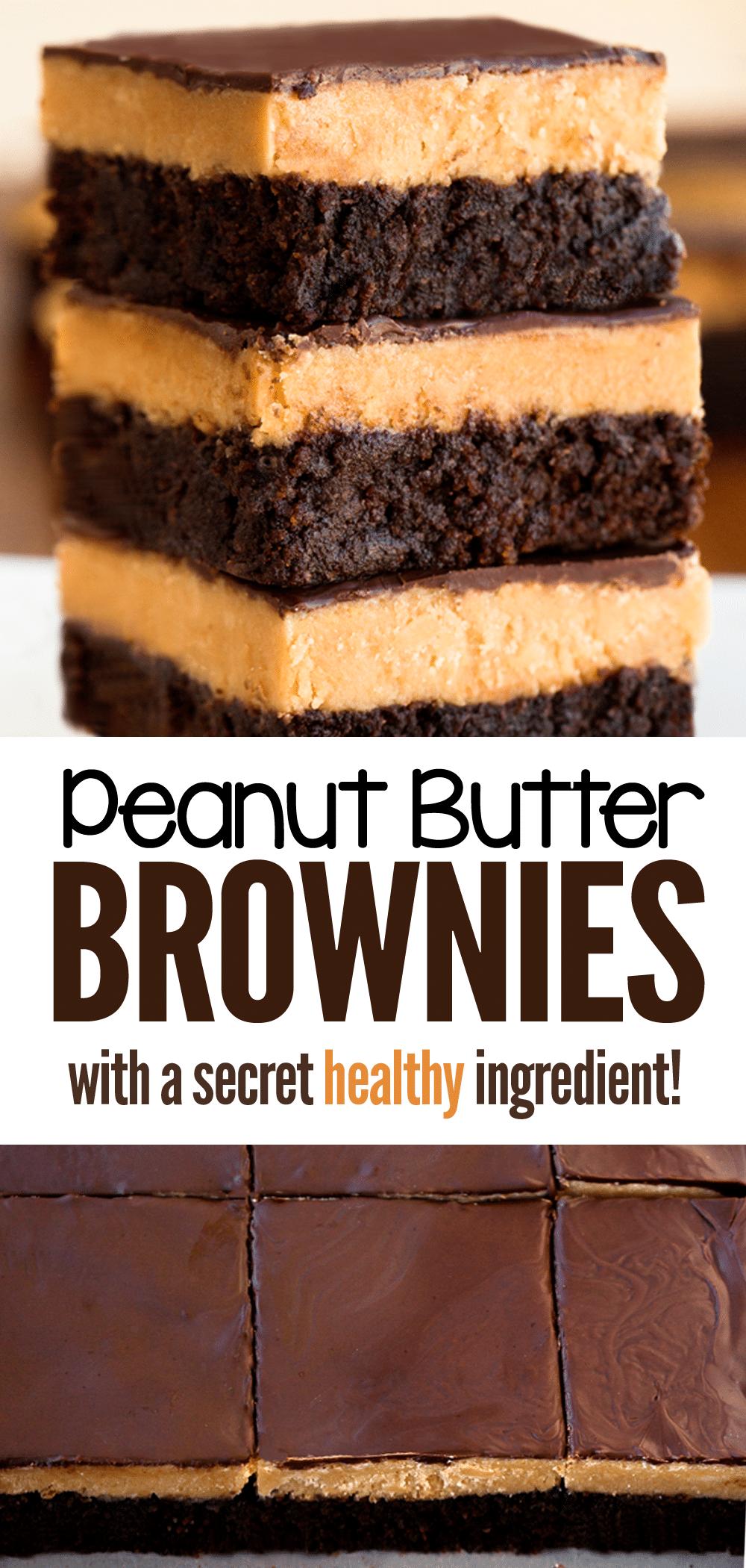 Brownies de manteiga de amendoim - Katie com cobertura de chocolate 2