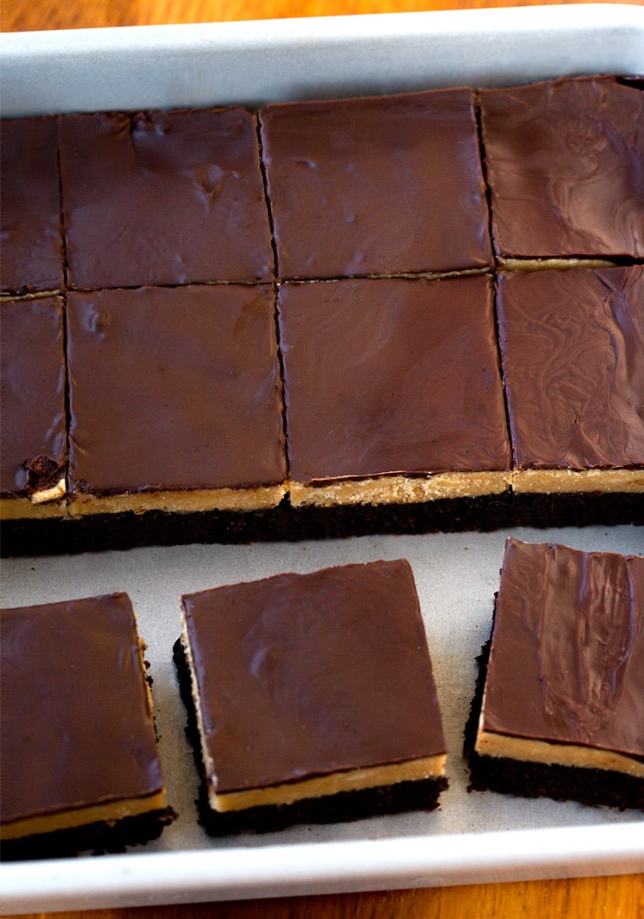 Vegan Chocolate Peanut Butter Brownie Bars