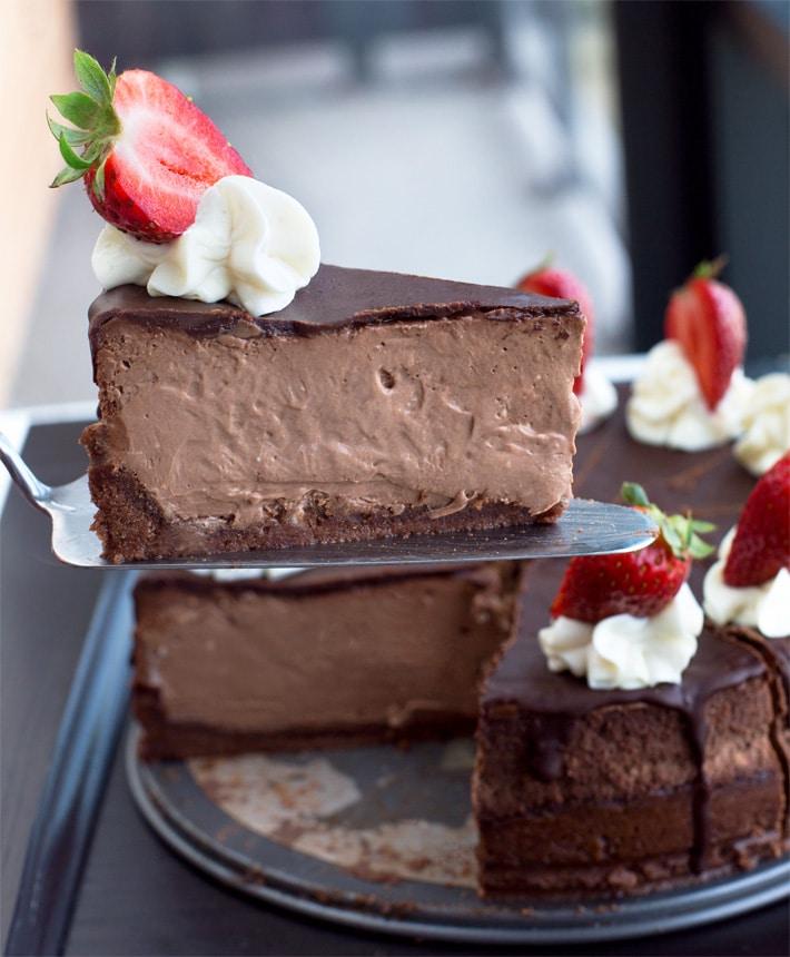 A melhor torta de trufas de chocolate 4