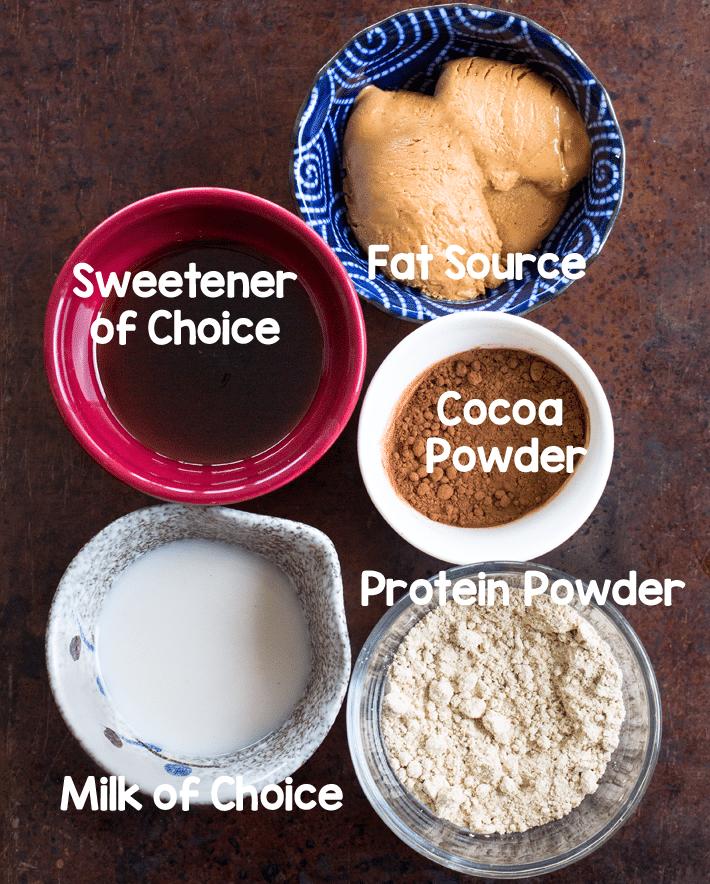 Healthy Vegan Frosting Ingredients
