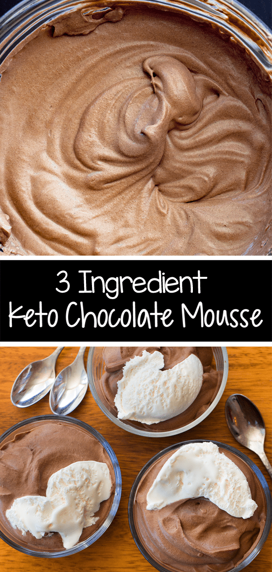 Homemade Keto Mousse (low carb, egg free, dairy free)
