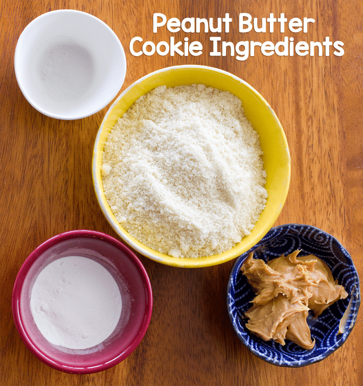Ketogenic Peanut Butter Cookie Ingredients