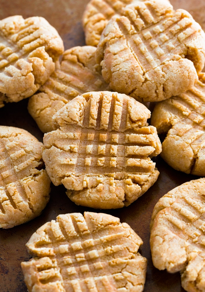 Perfect Keto Peanut Butter Cookies (egg free, dairy free)