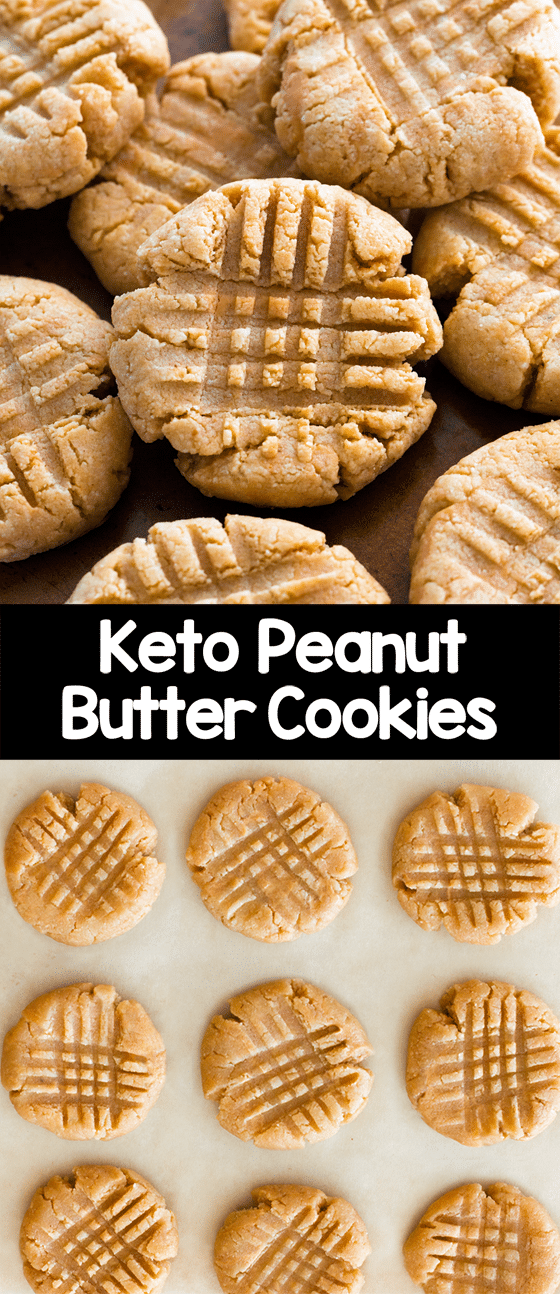 The Best Soft Chewy Keto Peanut Butter Cookies