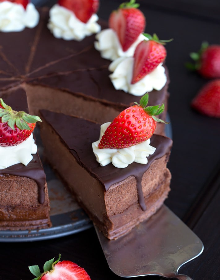 Vegan Chocolate Strawberry Pie Recipe