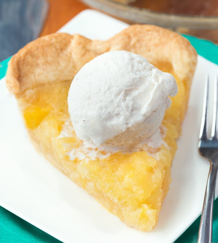 Fresh Hawaiian Pineapple Pie