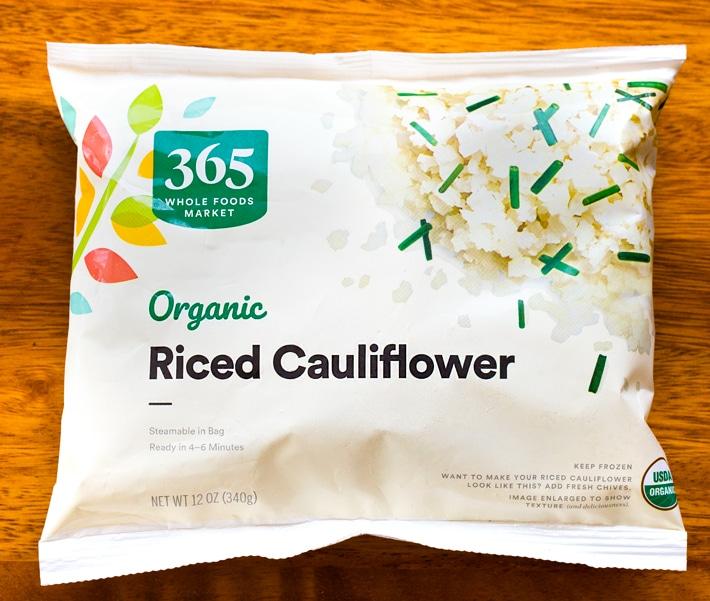 Riced Cauliflower Frozen Whole Foods