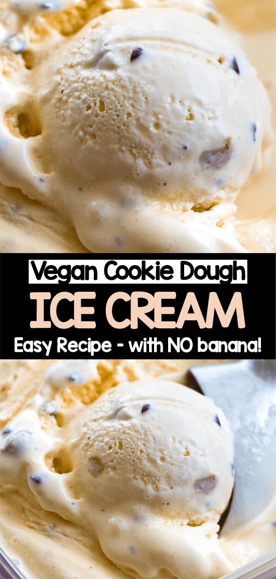 Cómo hacer helado de masa de galleta vegano en casa (sin máquina de helado)