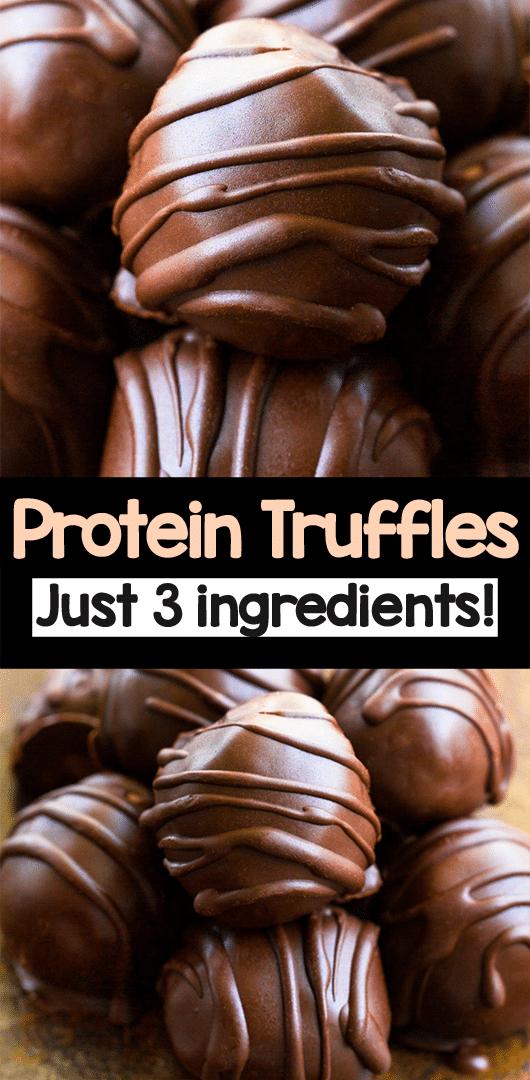 3 Ingredient Chocolate Protein Balls