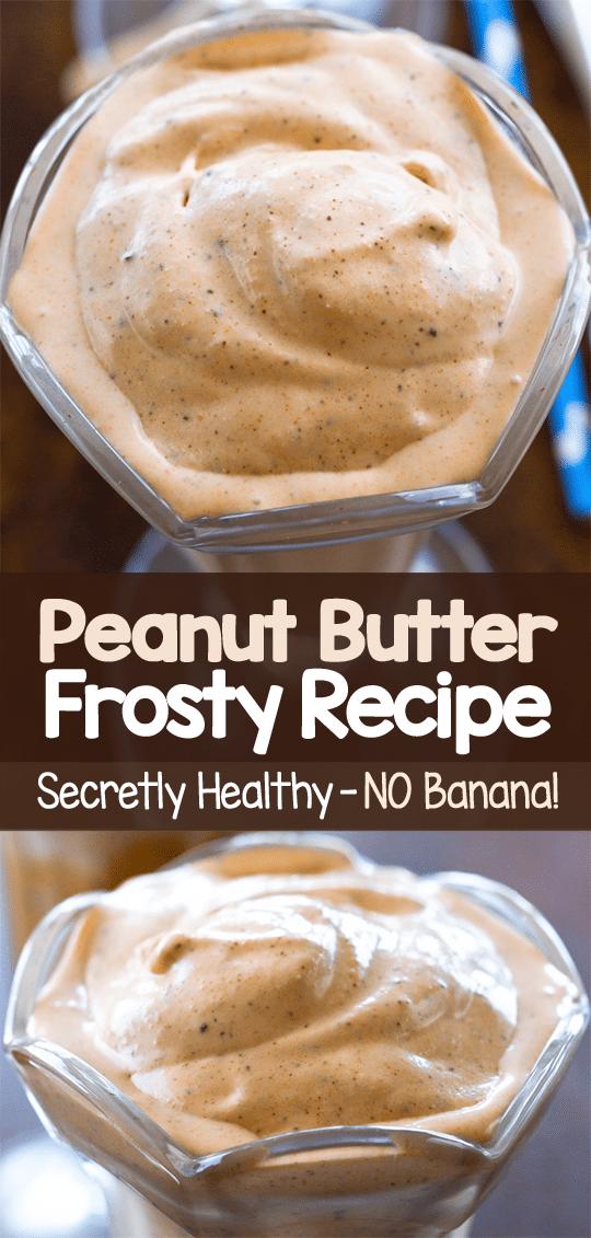 Healthy Snack Peanut Butter Frosty
