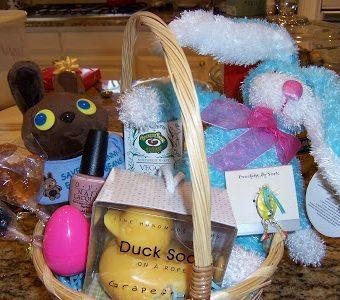 A tisket, a tasket. A vegan Easter basket