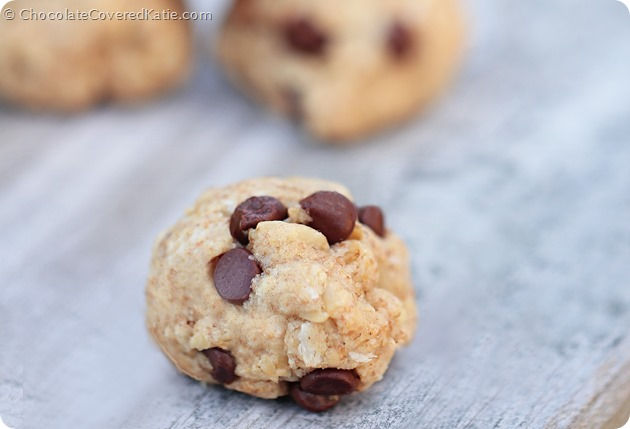 Chocolate Chip Oatmeal Cookies: https://chocolatecoveredkatie.com/2014/06/05/chocolate-chip-oatmeal-cookies/