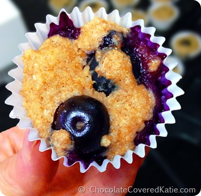 Blueberry Mini Muffins... {impossible to eat just one!} https://chocolatecoveredkatie.com/2014/07/07/blueberry-mini-muffins/