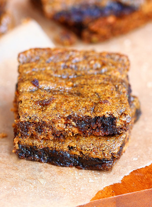 SO EASY to make - ooey gooey brown sugar bars... they melt in your mouth! https://chocolatecoveredkatie.com @choccoveredkt