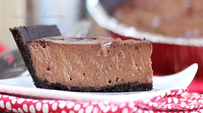 Chocolate Greek Yogurt Pie Healthy Dessert
