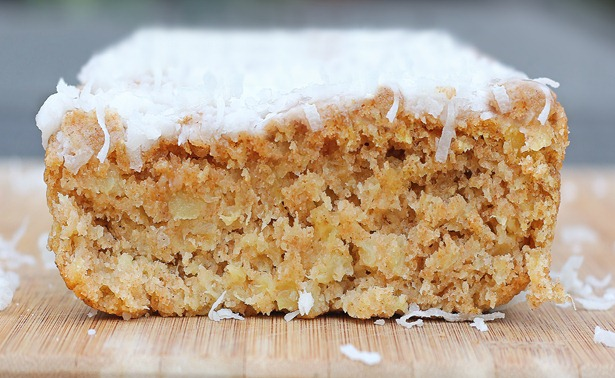 Soft and luxurious family-favorite recipe. Whenever we don't know what to have for breakfast, we'll make this recipe! It is highly recommended! https://chocolatecoveredkatie.com/2012/04/11/big-fat-coconut-breakfast-cake-2/