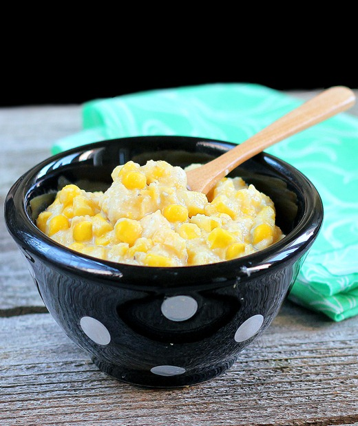 Healthy Corn Casserole - We make this recipe every year for the holidays... it is just as delicious as traditional corn casserole, and no one can ever guess it isn't full of butter and fat! https://chocolatecoveredkatie.com/2012/06/22/healthy-corn-casserole/ @choccoveredkt