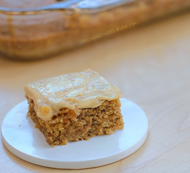 Can be oil-free / low-calorie / gluten-free / sugar-free / and vegan! Recipe---> https://chocolatecoveredkatie.com/2015/04/27/frosted-peanut-butter-snack-cake/
