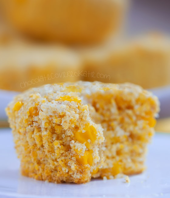 Bakery style corn muffins that turn out soft & absolutely delicious! We could not stop eating these! Full recipe: https://chocolatecoveredkatie.com/2015/06/22/healthy-corn-muffins/