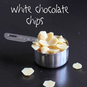 How to make your own White Chocolate Chips