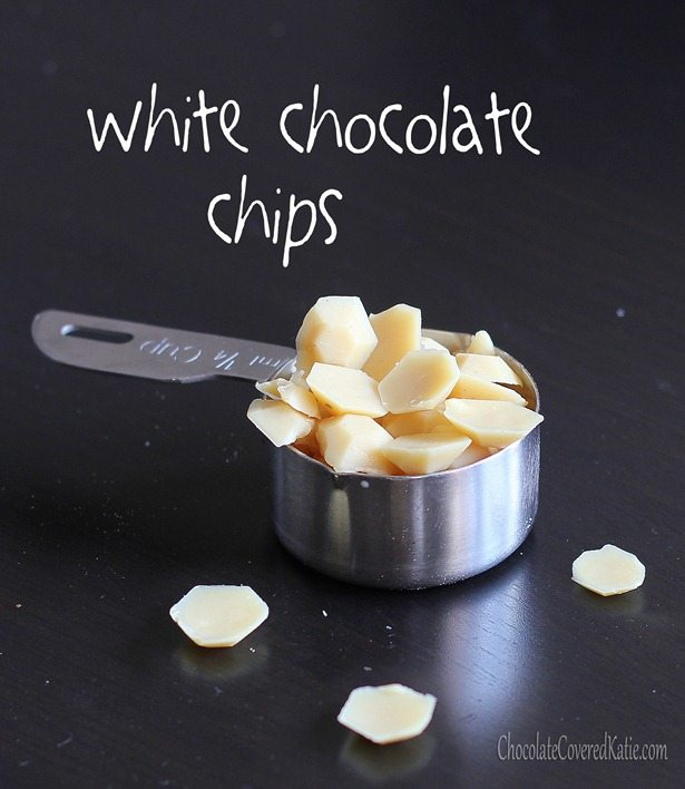 Easy recipe to make your own white chocolate chips... in under five minutes.