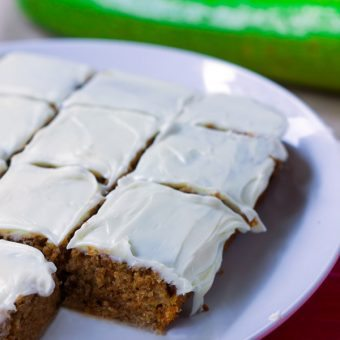Moist Zucchini Cake – With Greek Yogurt Frosting