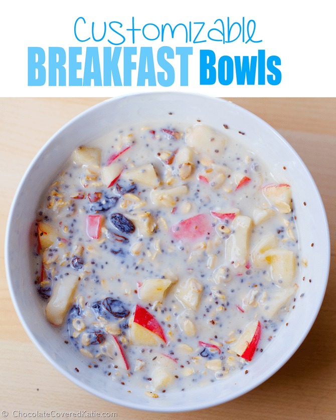 With this one recipe, you get endless breakfast options - healthy & filling, and you can easily change up the flavor by using different ingredients.. Full recipe here: https://chocolatecoveredkatie.com/2015/02/26/swiss-muesli-recipe/