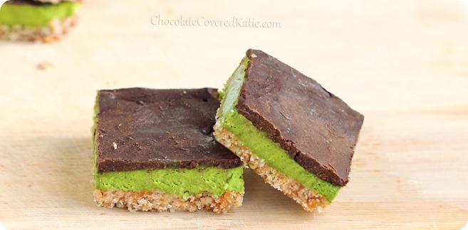 Mint Chocolate Chip Nanaimo Bars