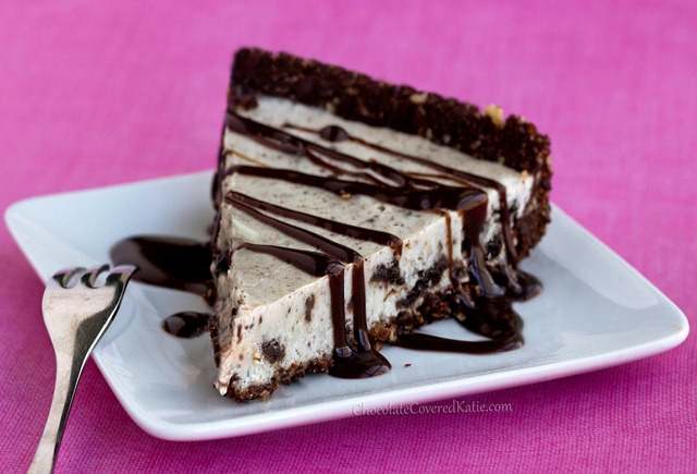 Secretly Healthy Oreo Cookie Pie, with no baking required: https://chocolatecoveredkatie.com/2013/05/03/no-bake-oreo-cookie-pie/
