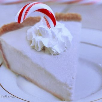 Candy Cane Pudding Pie
