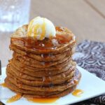 Sixteen fat, fluffy, irresistible pumpkin pancakes from @choccoveredkt… for less than 250 calories! Recipe: http://chocolatecoveredkatie.com/2013/11/17/pumpkin-pancakes/