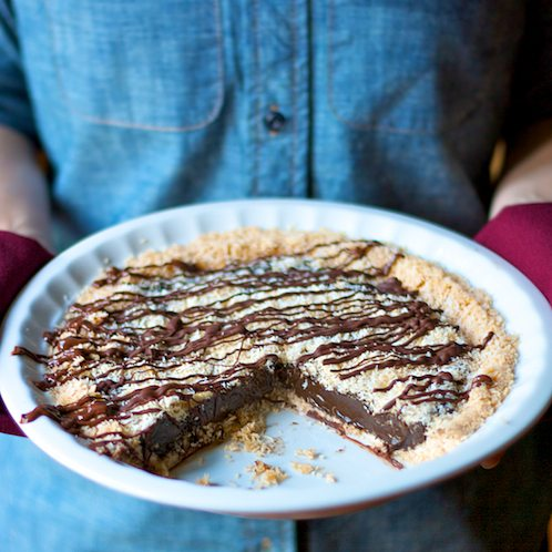 Samoas Girl Scout Cookie Pie