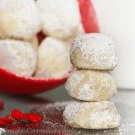 Popular snowball cookies recipe from @choccoveredkt… 4 ingredients, holiday favorite. Full recipe: http://chocolatecoveredkatie.com/2012/12/30/snowball-cookies-that-melt-in-your-mouth/