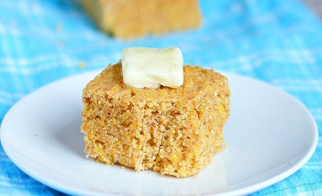 healthy cornbread https://chocolatecoveredkatie.com/2012/01/18/totally-addictive-cornbread/