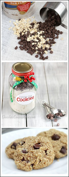 Step-by-step: Here is the tried-and-tested foolproof recipe for homemade chocolate chip cookies in a jar.  https://chocolatecoveredkatie.com/2012/12/20/healthy-chocolate-chip-cookies-in-a-jar/