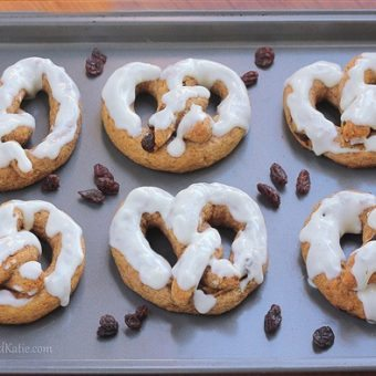 Homemade Glazin Raisin Pretzels