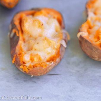 Loaded Crispy Baked Sweet Potato Skins