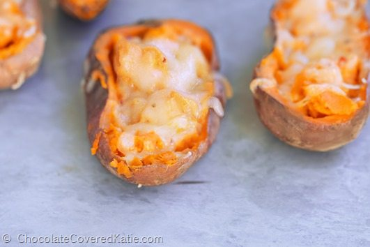 baked sweet potato skins