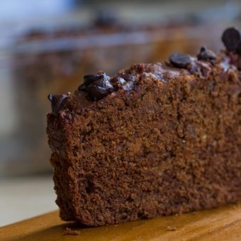 Best Ever Chocolate Peanut Butter Banana Bread