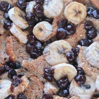 Clean Eating Chocolate Chip Bread Pudding
