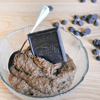 Dark Chocolate Brownie Batter Dip
