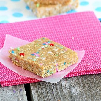 Cake Batter Energy Bars
