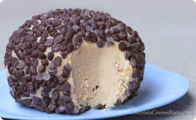 Peanut Butter Chocolate Chip Cheesecake Ball