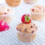 Strawberry Chocolate Chip Muffins – Healthy & Whole-Grain