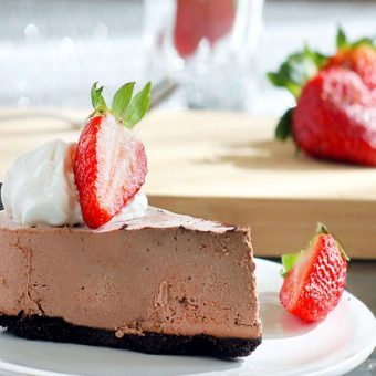 Chocolate Strawberry Truffle Pie