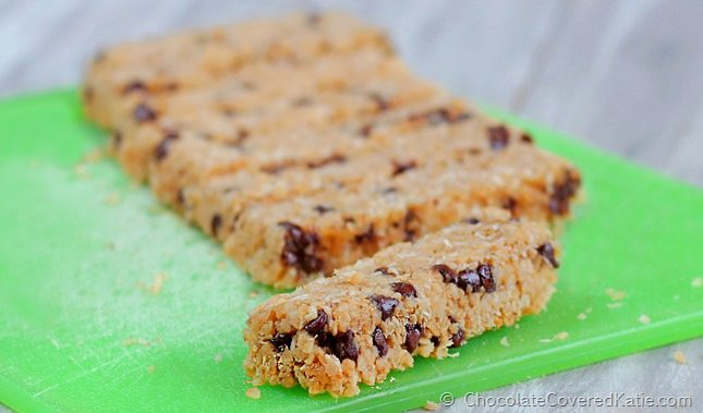 coconut chocolate chip granola bars