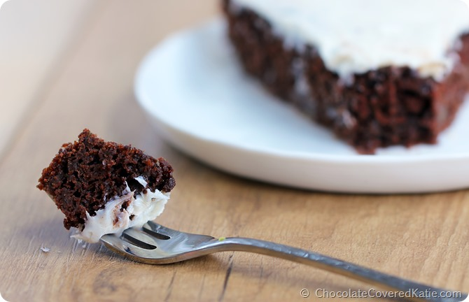 Healthy Chocolate Cake https://chocolatecoveredkatie.com/2014/10/14/avocado-chocolate-cake/